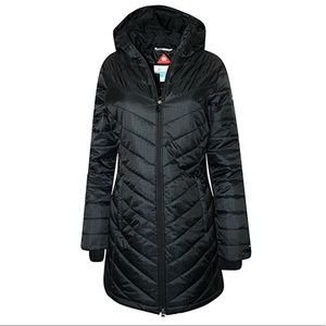 Women's Columbia Omni Heat Long Jacket Black-Small